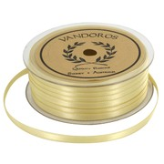 Ribbon Double Satin 6mm x 50m Gold Pk1