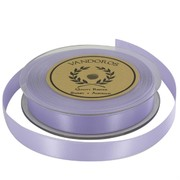 Ribbon Double Satin 15mm x 25m Lilac Pk1