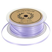 Ribbon Double Satin 3mm x 50m Lilac Pk1