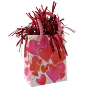 Balloon Weight Giftbag Hearts Pk1