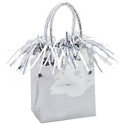 Balloon Weight Giftbag Silver Pk1
