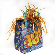 18th Birthday Giftbag Balloon Weight Pk 6