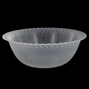 Frosted Plastic Bowl - Large 29cm Pk1