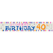 Happy 40th Birthday Laminated Paper Banner Pk1