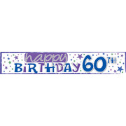 Happy 60th Birthday Laminated Paper Banner Pk1