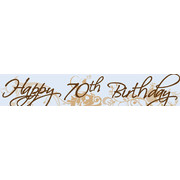 Happy 70th Birthday Laminated Paper Banner Pk1