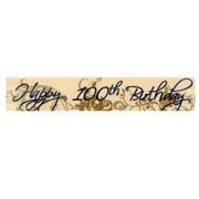Happy 100th Birthday Laminated Paper Banner Pk1