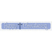 Happy Christening Blue Laminated Paper Banner Pk1