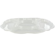 Platter Oval Compartment White Medium 44x31cm Pk1