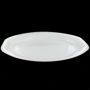 Platter Oval Square End White Large 54x37cm Pk1