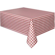 Red Gingham Tablecover (1.37 x 2.74m) Pk1