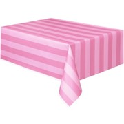 Striped Pink Tablecover (1.37 x 2.74m) Pk1