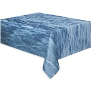 Blue Ocean Waves Tablecover (1.37 x 2.74m) Pk1