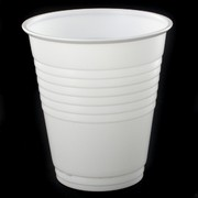 White Plastic Cups - 170ml Pk50