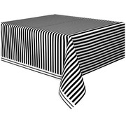 Black Stripes Tablecover 1.37x2.74m Pk 1