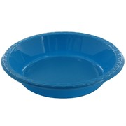 Electric Blue Plastic Bowls - Medium 17.2cm Pk25