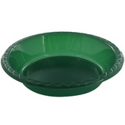 Hunter Green Plastic Bowls - Medium 17.2cm Pk25