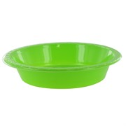 Lime Green Plastic Bowls - Medium 17.2cm Pk25