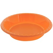 Orange Plastic Bowls - Medium 17.2cm Pk25