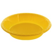 Yellow Plastic Bowls - Medium 17.2cm Pk25