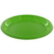 Lime Green Plastic Plates - Small 17cm Pk25