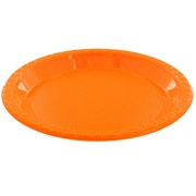 Orange Plastic Plates - Small 17cm Pk25