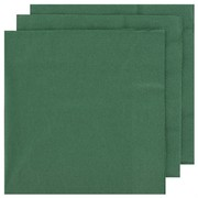 Dark Green Party Napkins - Dinner 2 ply Pk50