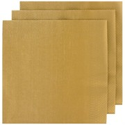Metallic Gold Party Napkins - Dinner 2Ply Pk50