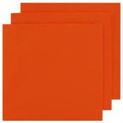 Orange Party Napkins - Dinner 2 ply Pk50