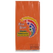 Orange Rectangular Party Tablecover Pk1