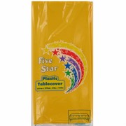 Yellow Rectangular Party Tablecover Pk1