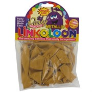 Balloon Link-O-Loon Metallic Gold Pk16