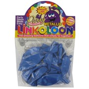Balloon Link-O-Loon Metallic Blue Pk16