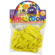 Balloon Link-O-Loon Metallic Yellow Pk16
