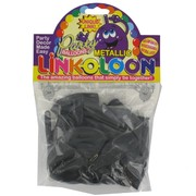Balloon Link-O-Loon Metallic Black Pk16
