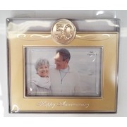 50th Anniversary Gold Photo Frame Pk 1