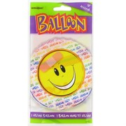Balloon Foil 18in Get Well Smile Pk1