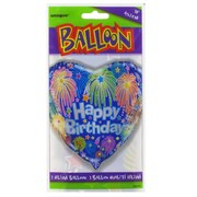 Balloon Foil 18in Birthday Fireworks Pk1