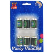Candles Aussie Beer Can Pk6