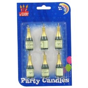 Candles Champagne Bottles Pk6