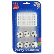 Soccer Party Candles - Soccer Ball With Net Pk6