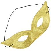 Gold Glitter Masquerade Mask - 'Cat' Pk 1