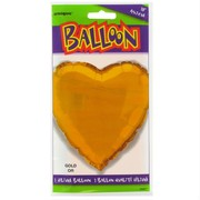 Balloon Foil 18in Gold Heart Pk1