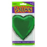 Balloon Foil 18in Green Heart Pk1