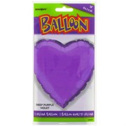 Balloon Foil 18in Purple Heart Pk1
