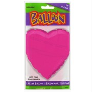 Balloon Foil 18in Hot Pink Heart Pk1