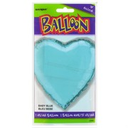 Balloon Foil 18in Light Blue Heart Pk1
