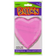Balloon Foil 18in Light Pink Heart Pk1