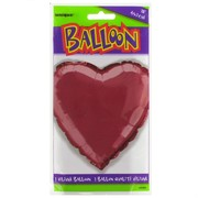 Balloon Foil 18in Burgundy Heart Pk1