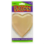 Balloon Foil 18in Ivory Heart Pk1